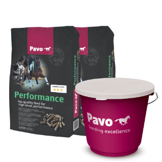 Pavo Performance 2 säckar + hink